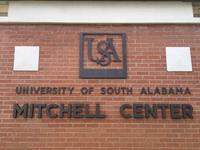 USA Mitchell Center dimensional letters